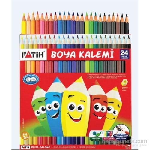 Fatih 24 Renk Tam Boy Kuru Boya Kalemi