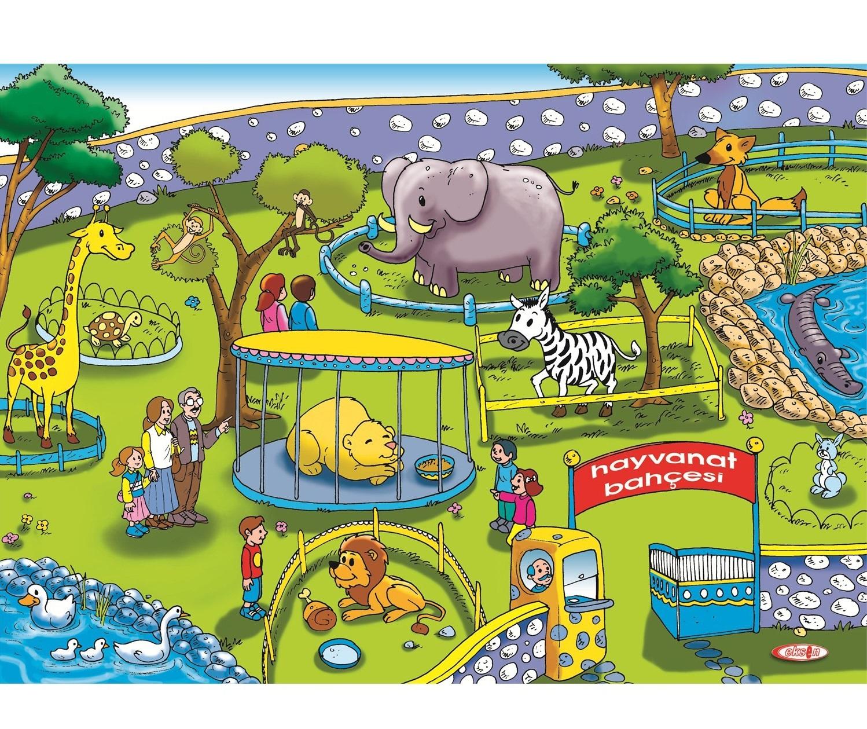 Eksen Hayvanat Bahçesi Ahşap Puzzle / 35 Parça