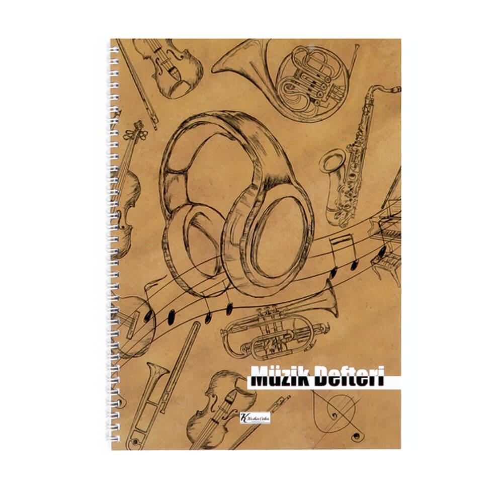 Keskin Color Spiralli Müzik Defteri A4 40 Yaprak