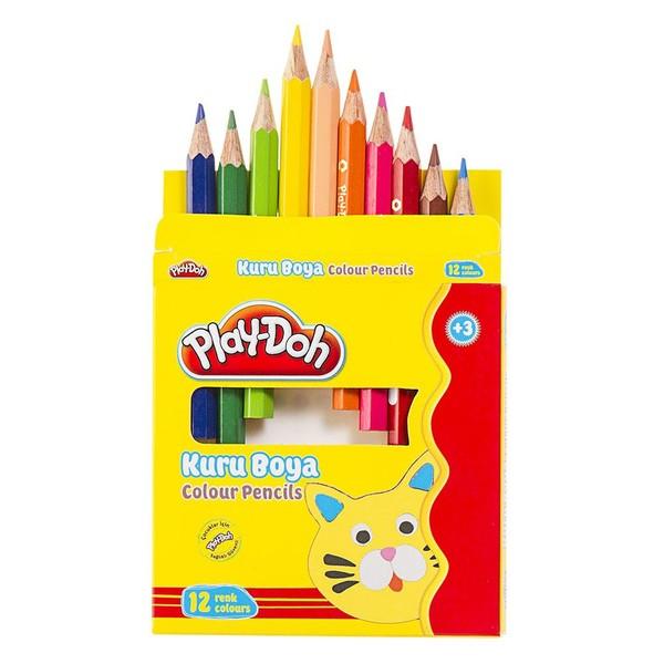 Play-Doh 12 Renk Kuru Boya Yarim Boy
