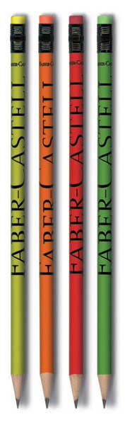 Faber-Castell Style Kurşunkalem Silgili 4'lü Blister