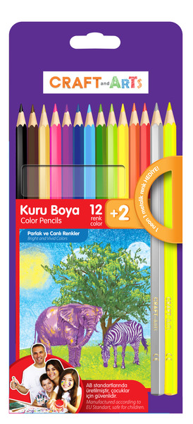 Craft and Arts Kuru Boya 12+2