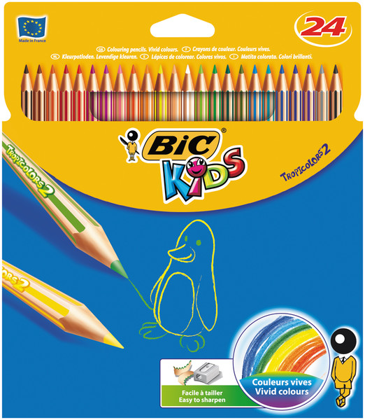 Bic Tropıcolor2 Boya Kalemi Uzun 24'Lü Kutu