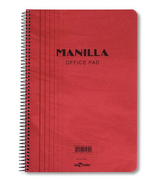Lecolor Manila Notebook Çizgili Spiralli
