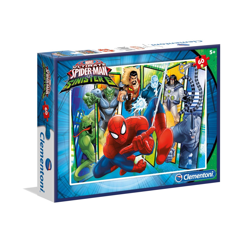 Clementoni 60 Parça Puzzle Spiderman S.C.