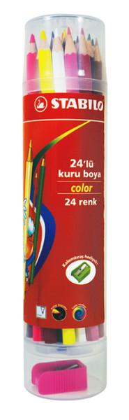Stabilo Color 24'lü Kuru Boya Plastik Tüp